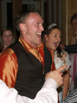 Bride and Bridegroom wedding disco Vaulty Manor Essex