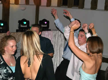Guests dancing at wedding reception to Essex mobile disco