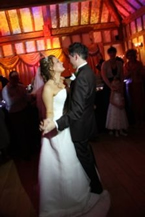 Essex wedding disco, bride and bridegrooms first dance, Amazing DJs Essex